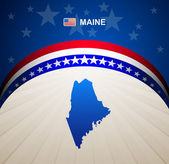 Maine map vector background — Stock Vector