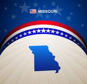 Missouri map vector background — Stock Vector