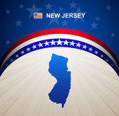 New Jersey map vector background — Stock Vector