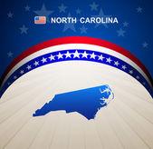 North Carolina map vector background — Stock Vector