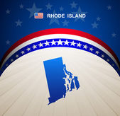 Rhode Island map vector background — Stock Vector