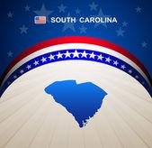 South Carolina map vector background — Stock Vector
