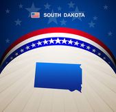 South Dakota map vector background — Stock Vector