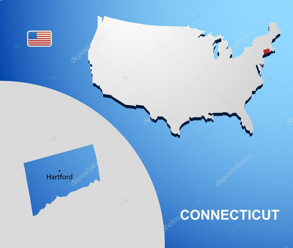 Connecticut State Maps USA Maps Of Connecticut CT Ivoryton - Connecticut usa map