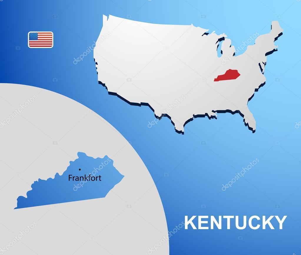 美国州地图