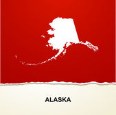 Alaska map vector background — Stock Vector