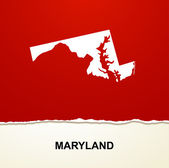 Maryland map vector background — Stock Vector