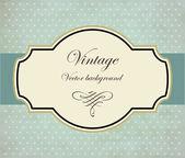 Blue Vintage vector background — Stock Vector