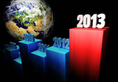 Business Concept 2013 - Europe and Asia — Stock Photo