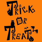 Trick or treat — Vector de stock