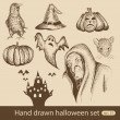 Stock Vector: Halloween set