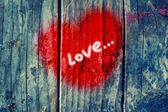 Heart on wall — Stock Photo