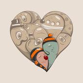 Abstract heart — Stock Vector