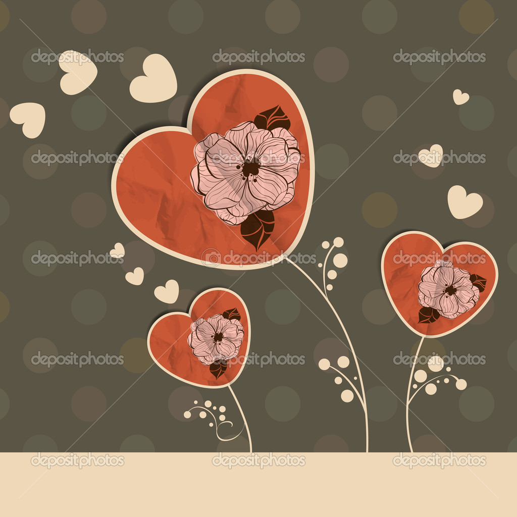 St Valentine's day greeting card  Imagen vectorial #19097411