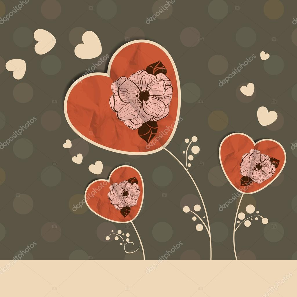 St Valentine's day greeting card — Stockvectorbeeld #19097411