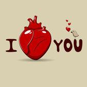 Je t'aime — Vecteur