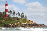 Lighthouse beach — Stock Photo