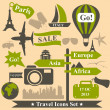 Travel icons — Stock Vector