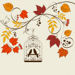 Fall background — Imagen vectorial