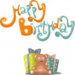 Birthday greeting card — Stock Vector