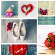 Love collage — Stock Photo