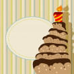 Birthday cake — Stock Vector #5328473