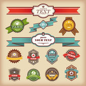 Set of vintage labels — Stock Vector