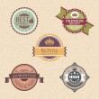 Stock Vector: Vintage labels and badges
