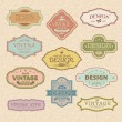 Set of vintage retro frames - Stock Vector