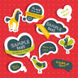 Set of speech bubbles - Vettoriali Stock 
