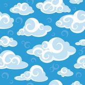 Astratto modello senza soluzione di continuità con le nuvole — Vettoriale Stock