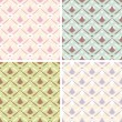 Royalty-Free Stock Imagem Vetorial: Abstract seamless patterns