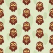 Cute seamless pattern with owl — Stock Vector #21470609