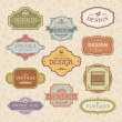 Royalty-Free Stock Vector Image: Set of vintage style frames