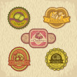 Royalty-Free Stock Vector Image: Vintage fruit label