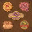 Vintage fruit label - Stock Vector
