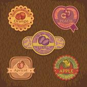 Vintage meyve etiketi — Stok Vektör