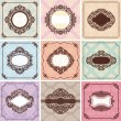 Set of vintage frames — Stock Vector #22432733