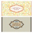 Royalty-Free Stock Vector Image: Set of card in retro style