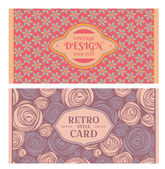 Set of card in retro style — Stock Vector
