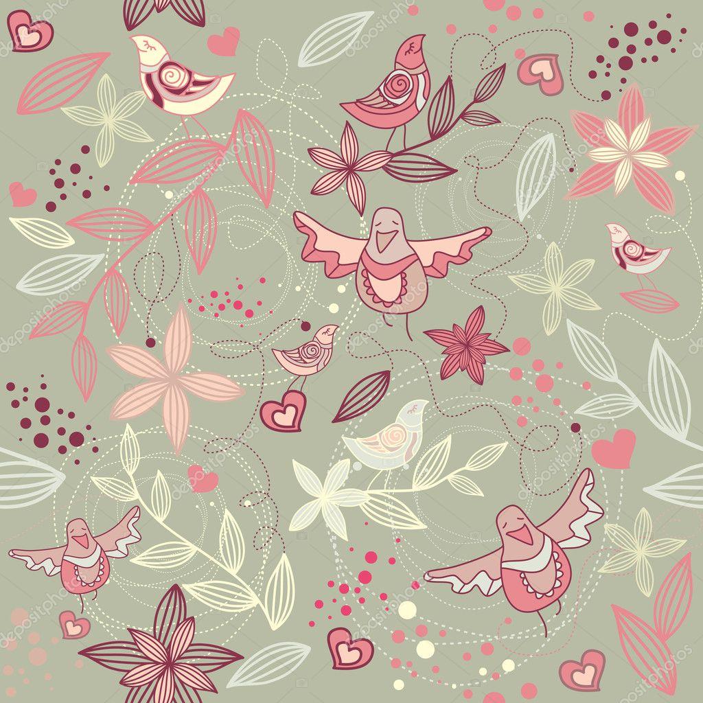 seamless floral fond d 39 cran romantique image vectorielle selenamay 2808106. Black Bedroom Furniture Sets. Home Design Ideas