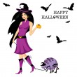Beautiful witch — Stock Vector #2846497