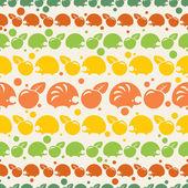 与刺猬和苹果模式 — 图库矢量图片