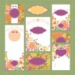 Set of floral wedding cards — Stock Vector #29433937