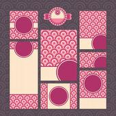 Set van moderne bruiloft kaarten — Stockvector