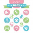 Universal baby icons — Stock Vector