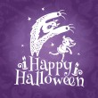 Happy Halloween greeting vector card — Stock Vector #30282093