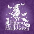 Cтоковый вектор: Happy Halloween greeting vector card