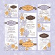 Stockvector : Set of wedding cards