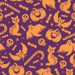 Vettoriale Stock : Halloween seamless pattern